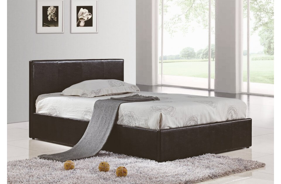 Berlin Ottoman Storage Bed Faux Leather Beds Fads