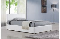 Berlin Ottoman Storage Bed Faux Leather White 1