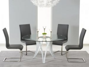 Berlin Round 4 Seater Dining Set Grey