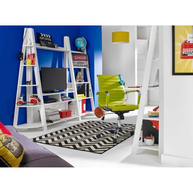 Bodo White Ladder Desk 2