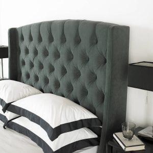 Buckingham Ottoman Bed Frame Fabric Grey 2