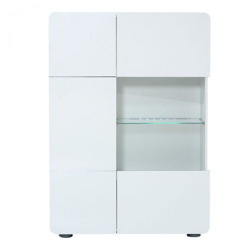 Bump Display Cabinet White High Gloss 2 Door