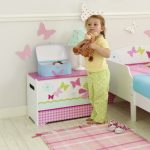 Butterfly Toy Box Pink & White 2