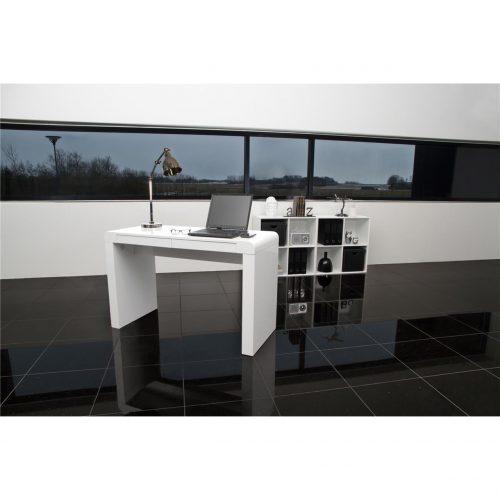 Cana White High Gloss Desk 1
