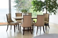Cassia Beige Faux Leather Chairs 4