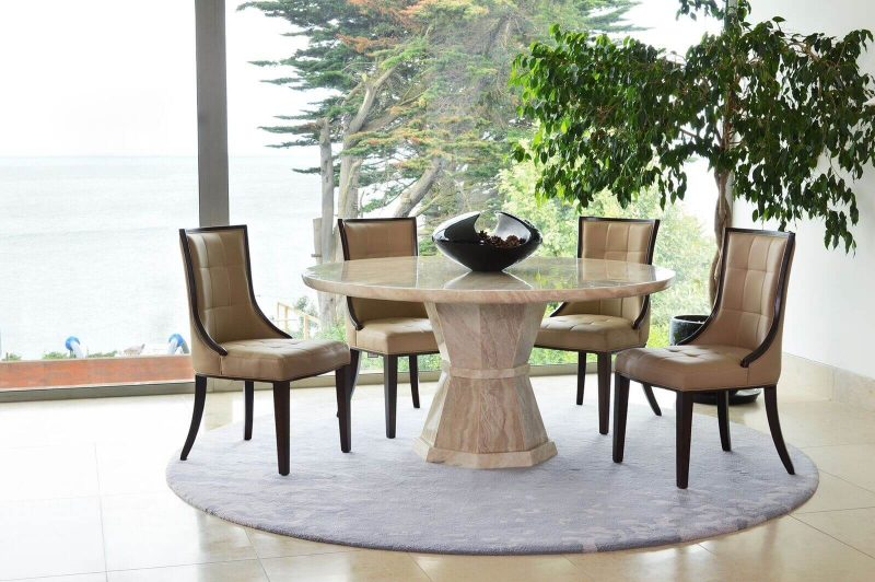 Cassia Beige Faux Leather Chairs 5