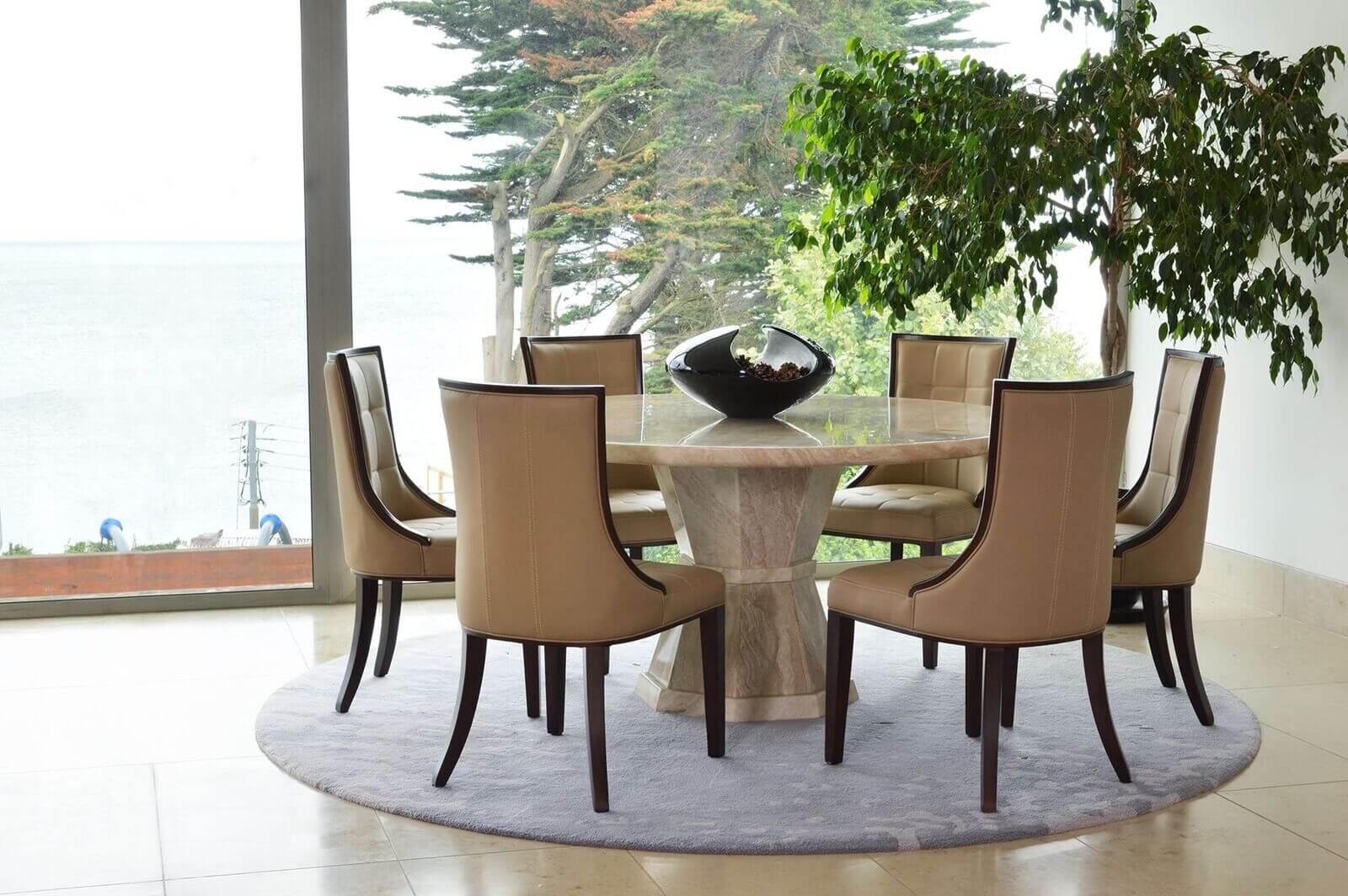 Cassia Beige Faux Leather Chairs 6