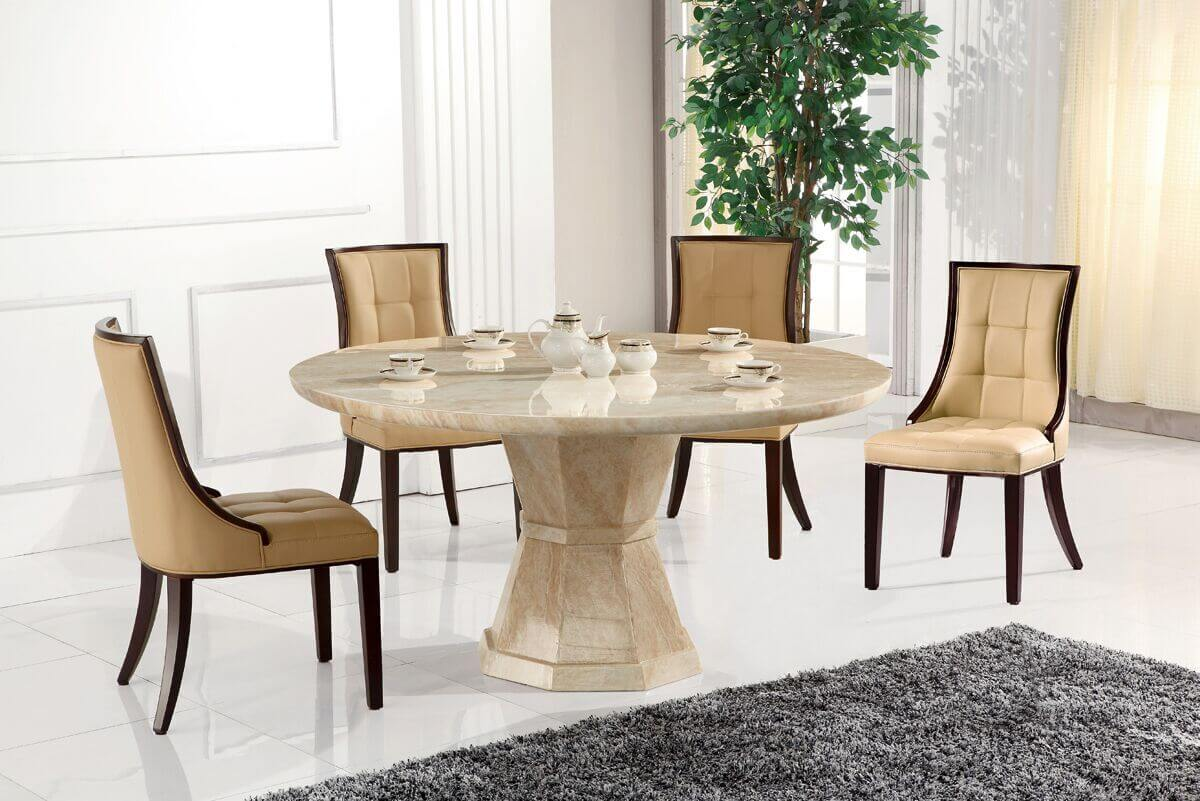 Cassia Beige Faux Leather Chairs 7