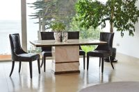 Cassia Brown Faux Leather Chairs 1