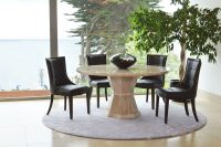 Cassia Brown Faux Leather Chairs 2