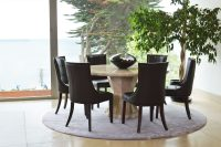 Cassia Brown Faux Leather Chairs 3