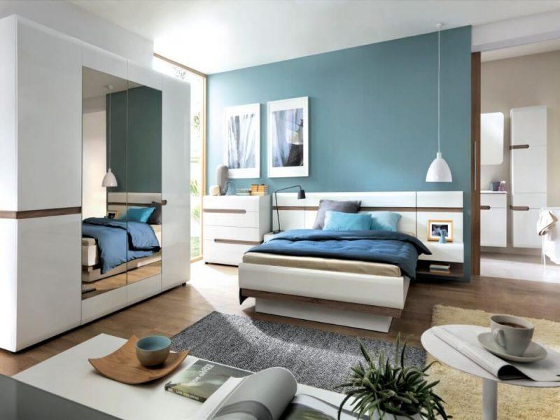 Chelsea EU Bed Frame White Gloss & Truffle Oak 2