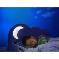 Cloud Toddler Bed with Night Light Projector 3