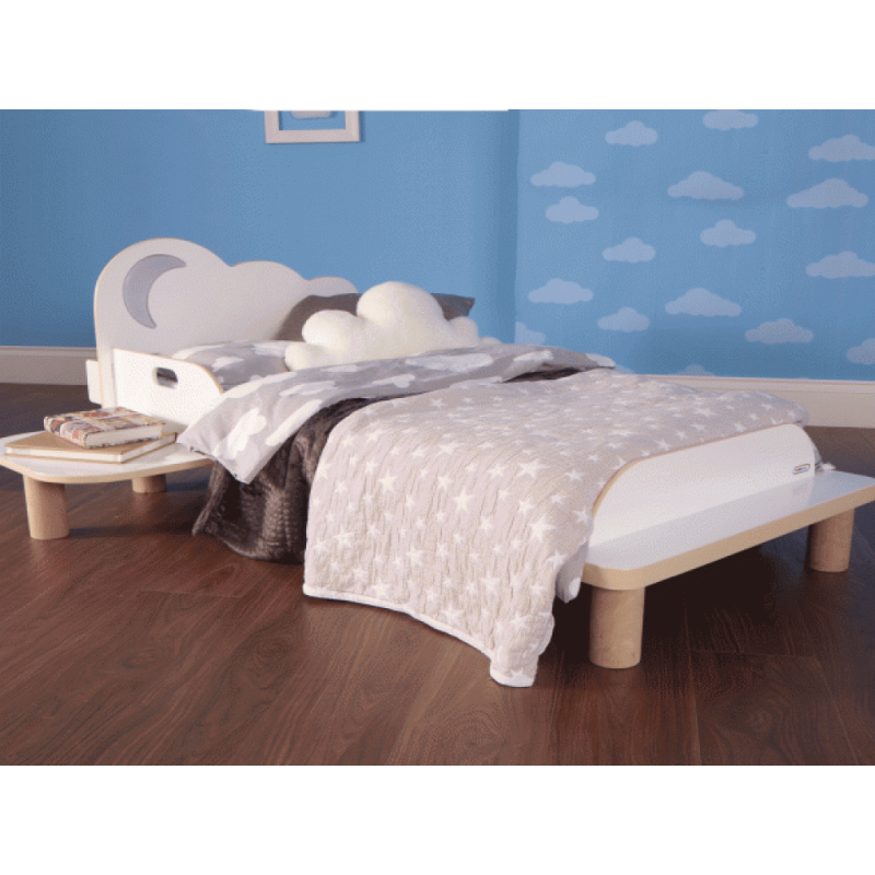 Cloud Toddler Bed with Night Light Projector 4