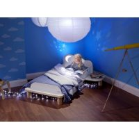 Cloud Toddler Bed with Night Light Projector 7