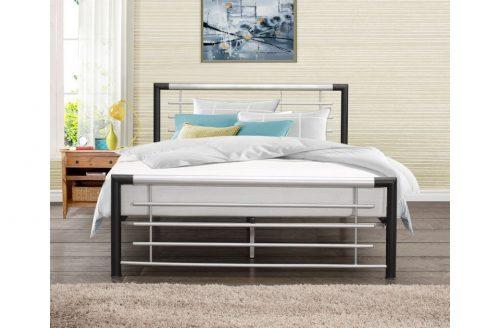 Cole Black & Silver Metal Bed Frame 1