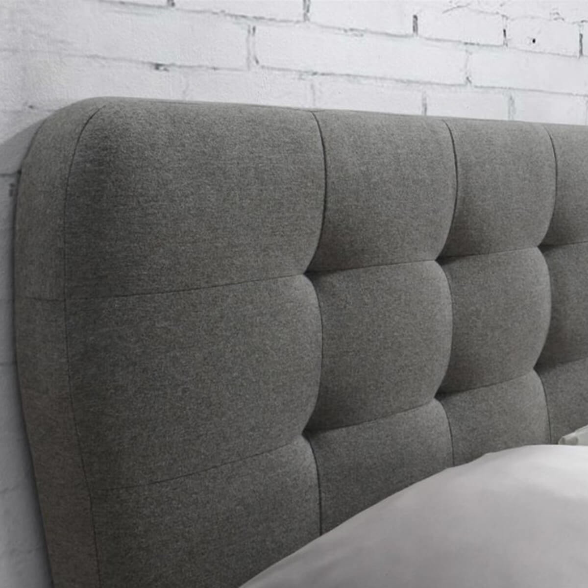 Cologne Fabric Bed Frame Grey 4