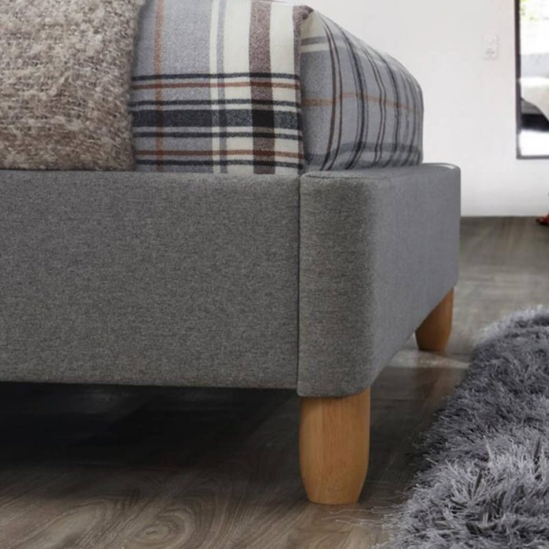 Cologne Fabric Bed Frame Grey 5