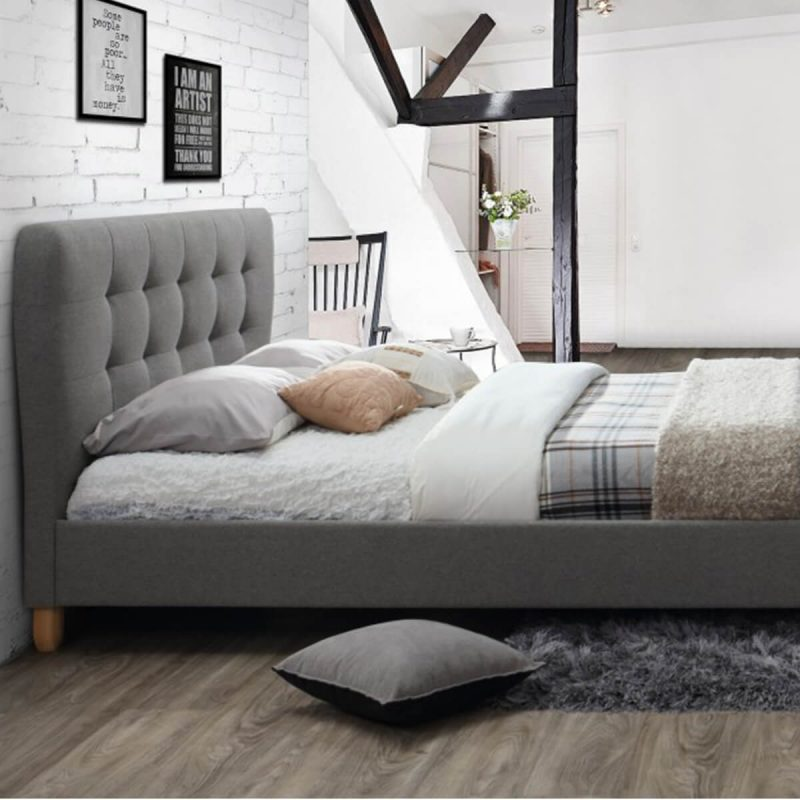 Cologne Fabric Bed Frame Grey 7