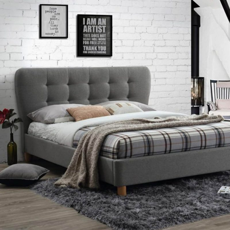 Cologne Fabric Bed Frame Grey 8