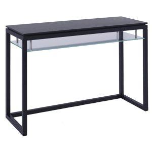 Cordoba Console Table Dark Wenge & Clear Glass