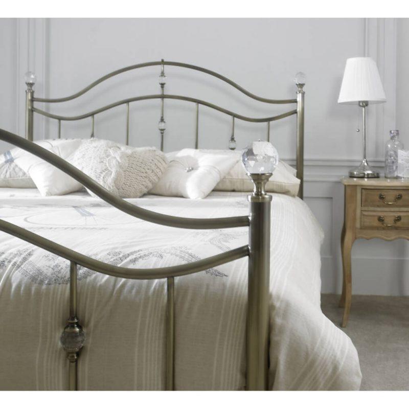 Cygnus Metal Bed Frame Antique Brass 1