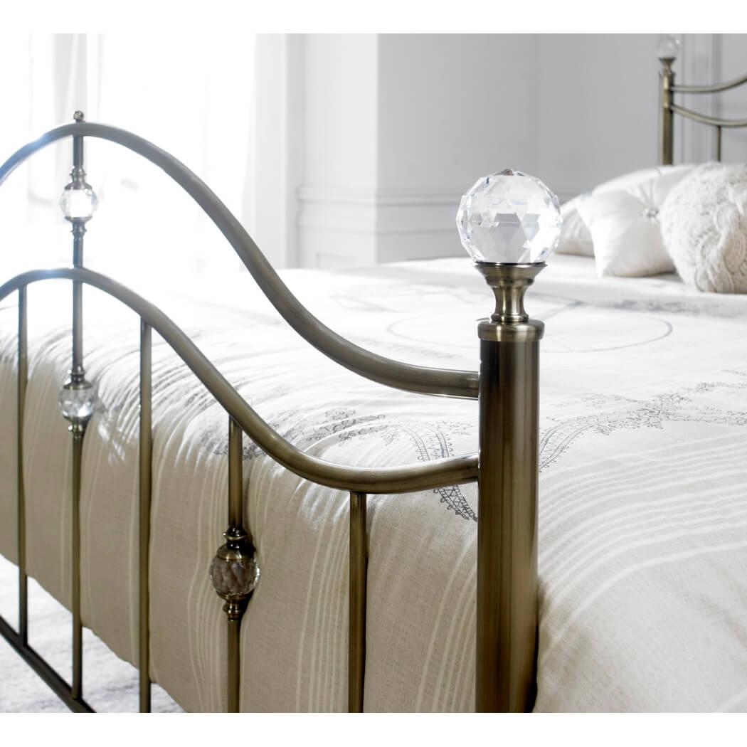 Cygnus Metal Bed Frame Antique Brass 2