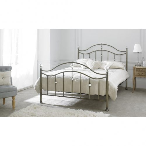 Cygnus Metal Bed Frame Antique Brass