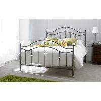 Cygnus Metal Bed Frame Black Chrome