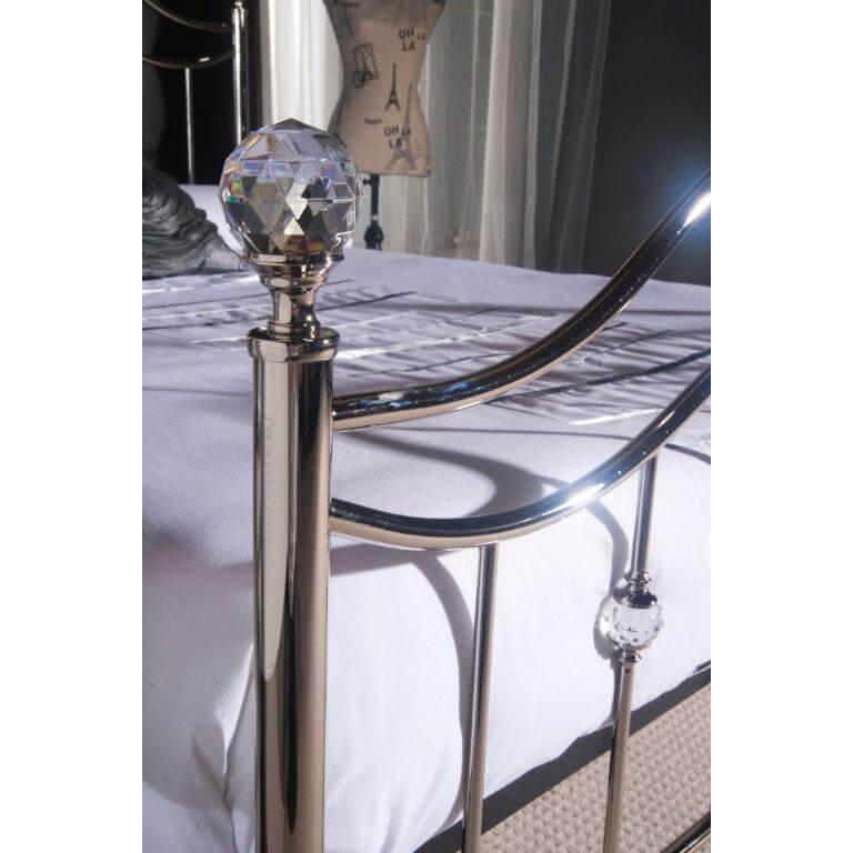 Cygnus Metal Bed Frame Chrome 3