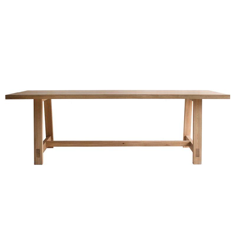 Narrative solid oak plank Table