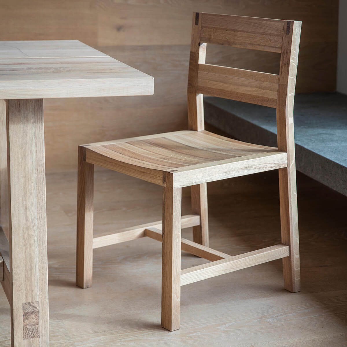 Solid Oak Dining Chairs ~ Narrative solid oak dining chairs pair fads