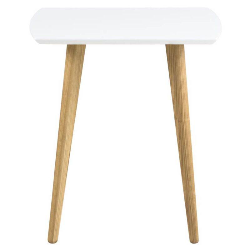 Elise Lamp Table White High Gloss & Ash