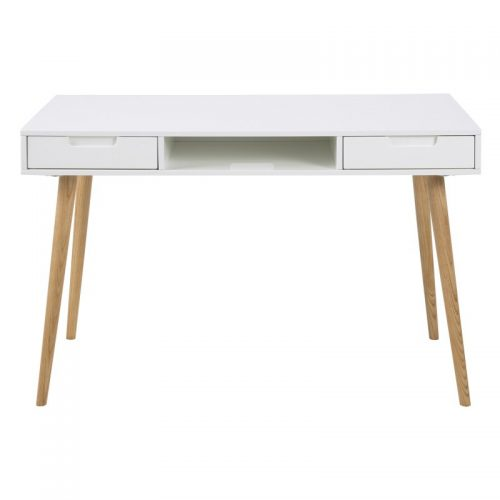 Elise White High Gloss Desk