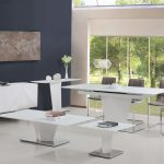 Essence Console Table White High Gloss & Glass 3