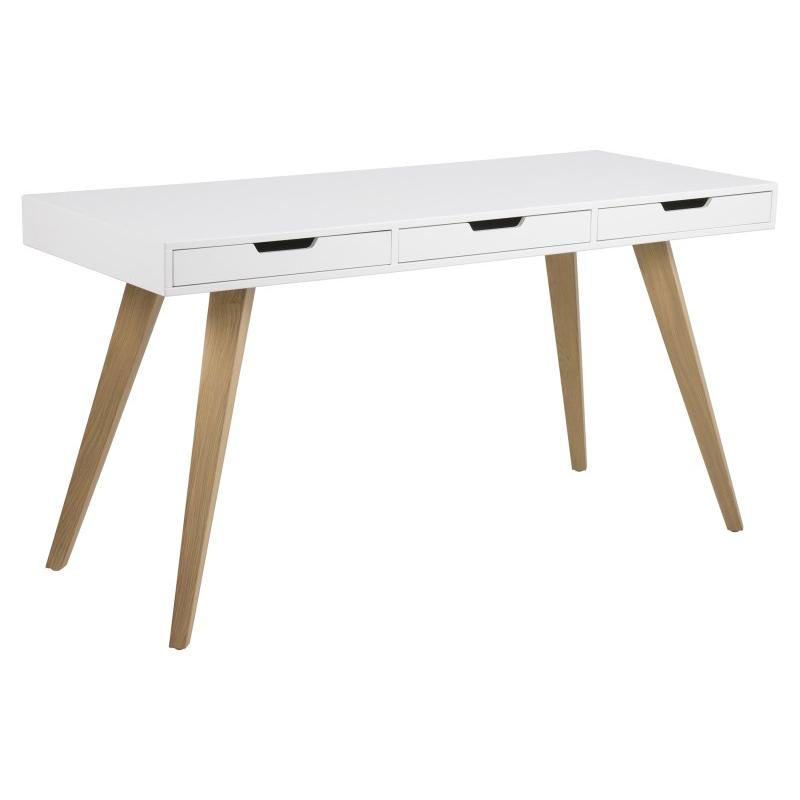 Estelle Scandinavian Style Desk White Ash Scandi Style Fads
