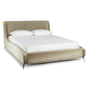 Faye Fabric Gold Bed