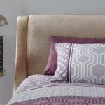 Faye Curved Bed Frame Crushed Velvet Gold 2