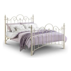 Felicity Off White Metal Bed Frame