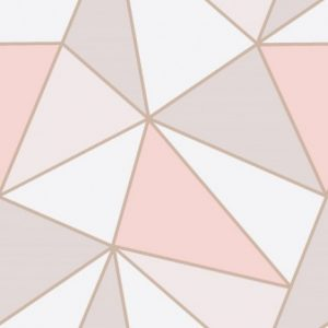 Abstract Geometric Rose Gold Wallpaper
