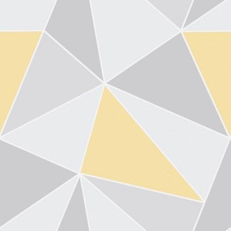 Abstract Yellow & Grey Wallpaper 1