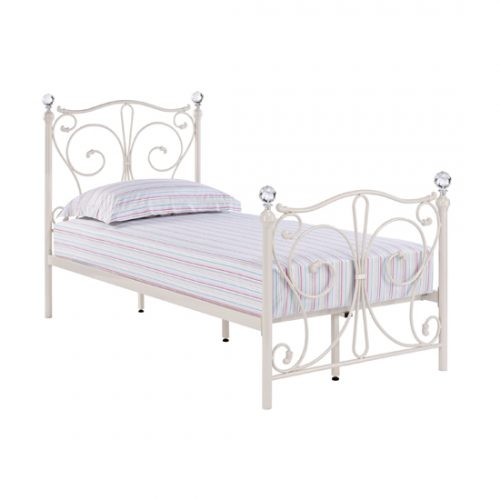 Firenze Metal Day Bed Single White 1