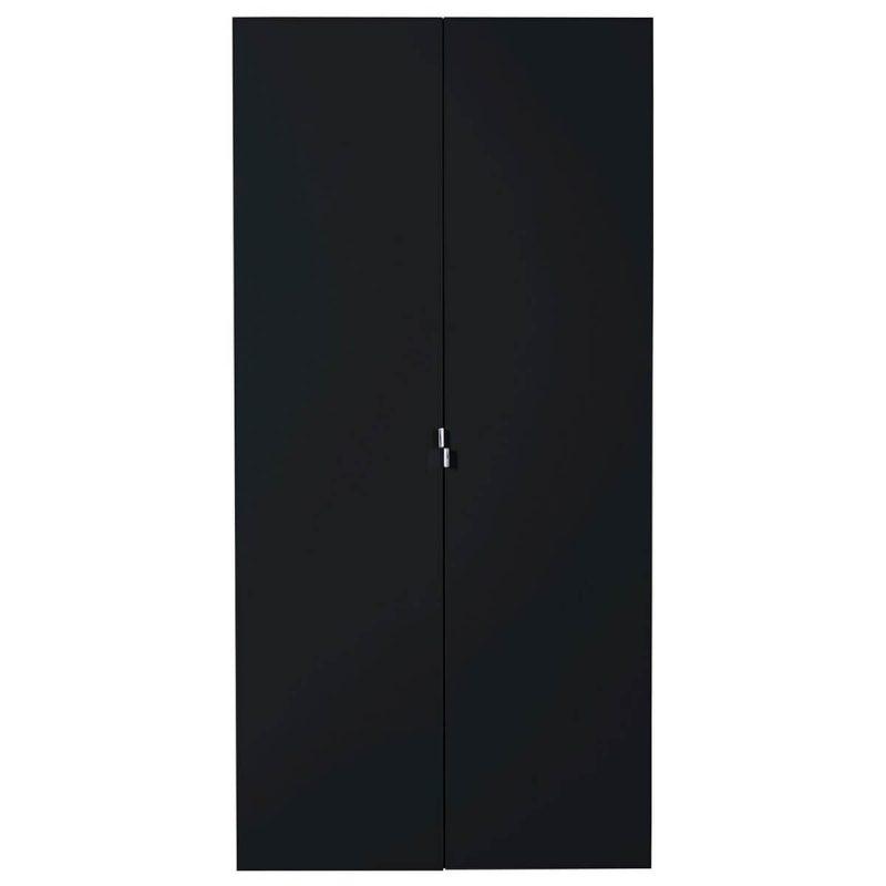 First 2 Door Wardrobe 101cm Black High Gloss