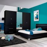 First 2 Door Wardrobe 101cm Black High Gloss 4