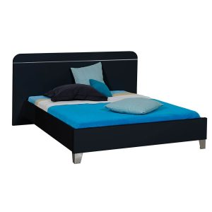 First EU Bed Frame Black High Gloss 1