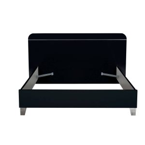 First EU Bed Frame Black High Gloss 2