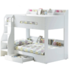 Flick Bunk Bed with Storage Drawer & Shelving White 4