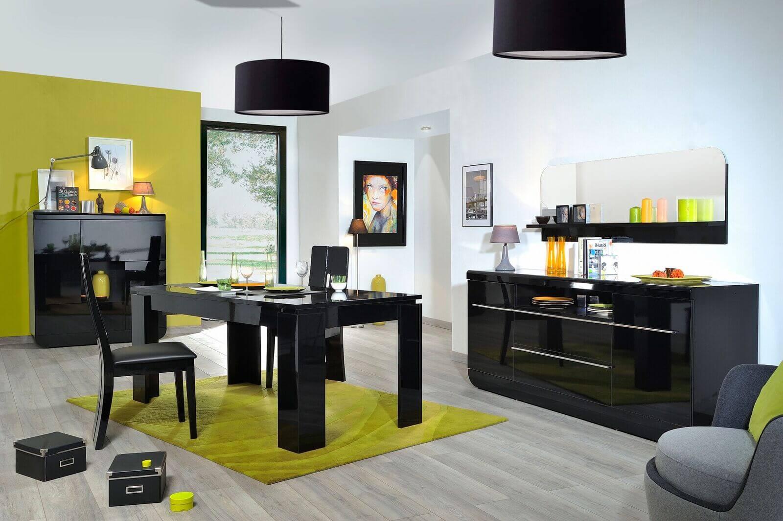 Floyd Black Gloss Dining Chairs 1