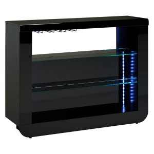 Floyd Sideboard Black High Gloss Open Bar