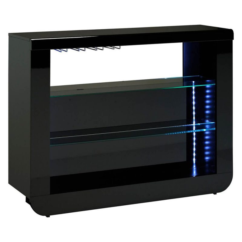 Floyd Sideboard Black High Gloss Open Bar